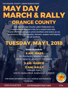May Day March & Rally @ St. Boniface Church  | Anaheim | California | United States
